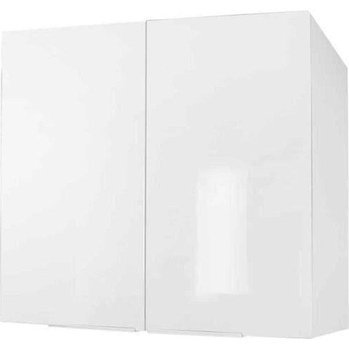 ÉLÉMENTS HAUT Meuble de cuisine haut 2 portes - 80cm - Blanc - É