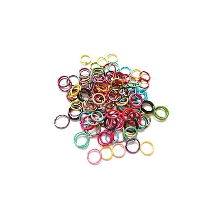 1200 anneaux ouverts de jonction 6 coloris X 200 Pièces Fabrication bijoux