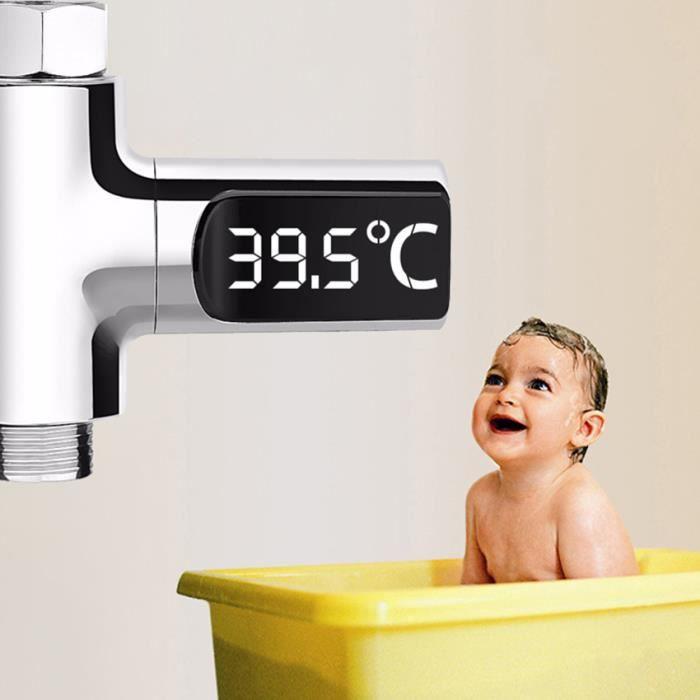 THERMOMÈTRE DE BAIN Affichage à LED de thermomètre de douche Surveille