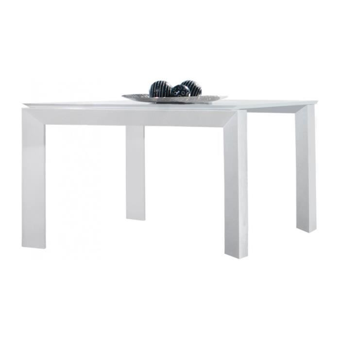 Table Design Carr E Laque Blanc Brillant Achat Vente Table A Manger Seule Table Design