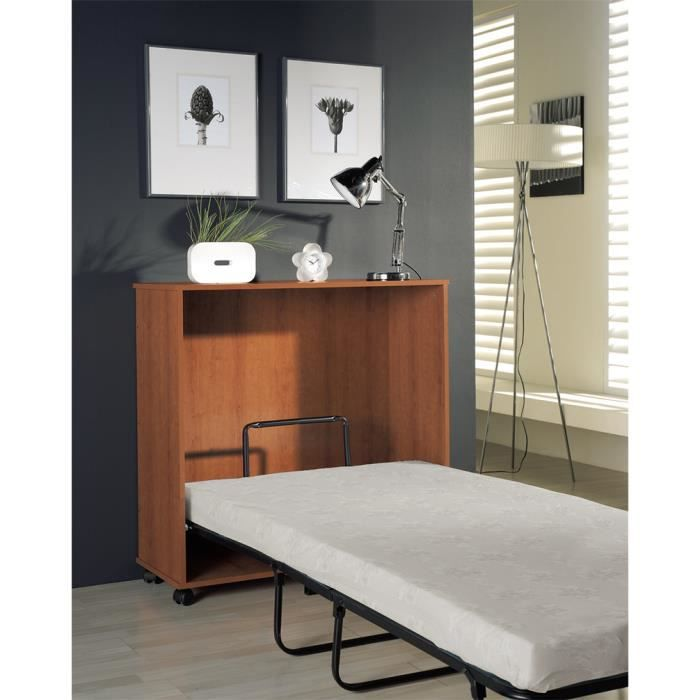 lit d 39 appoint blanc avec matelas 98 5 x 39 x 99 cm achat. Black Bedroom Furniture Sets. Home Design Ideas