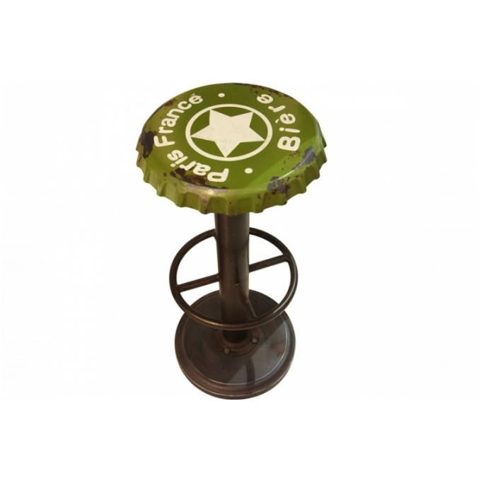 tabouret de bar capsule vert biere achat vente tabouret de bar vert cdiscount. Black Bedroom Furniture Sets. Home Design Ideas