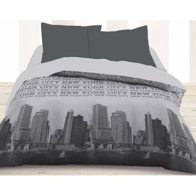 couette imprim e ville new york achat vente couette. Black Bedroom Furniture Sets. Home Design Ideas