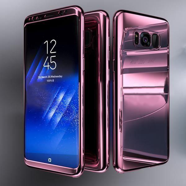Coque Intégrale pour Samsung Galaxy S9 Miroir Rose