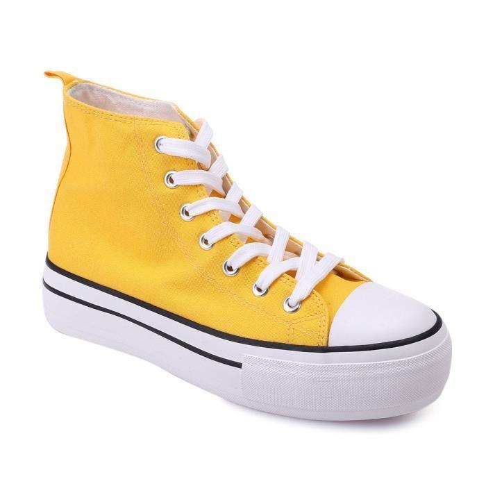 converse plateforme moutarde