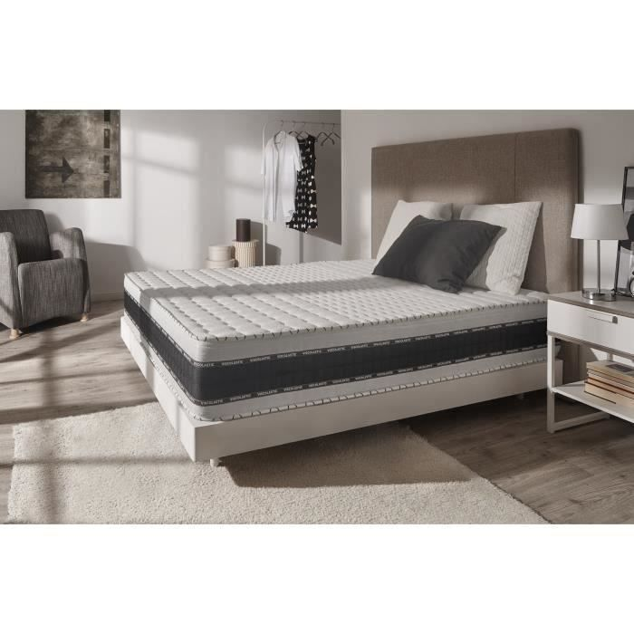 matelas m moire luxe memory 140x190 cm mousse blue latex 7 zones huate densit. Black Bedroom Furniture Sets. Home Design Ideas