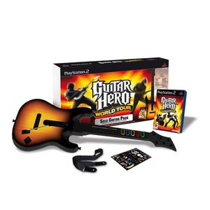 JEU PS2 PACK GUITAR HERO WORLD TOUR / JEU CONSOLE PS2