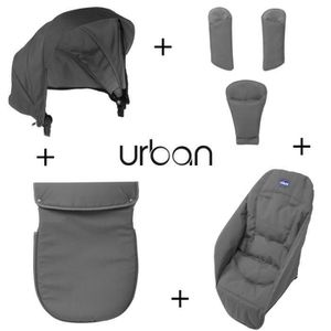 POUSSETTE  CHICCO Pack Coloris Urban Anthracite