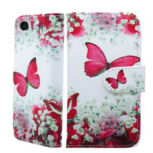 HOUSSE - ÉTUI IPHONE 5C BUTTERFLY FLORAL WALLET CASE WITH FREE S