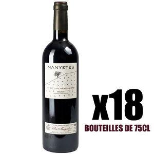 VIN ROUGE X18 Manyetes 75 cl Clos Mogador AOC Priorat Vin Ro