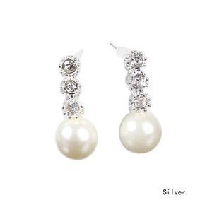 Boucle d'oreille RHOD 1 pair femmes en forme de larme perle d'imita