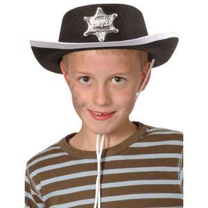 CHAPEAU - PERRUQUE Chapeau cowboy noir enfant