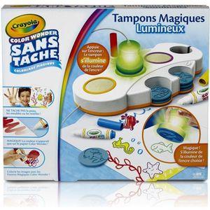 JEU DE TAMPON Crayola - Tampons Magiques Lumineux Color Wonder -