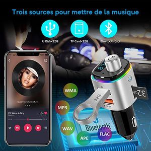 TRANSMETTEUR FM Transmetteur FM Bluetooth, Nouveauté 2019,écran de