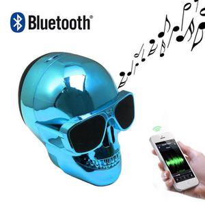 MICROPHONE - ACCESSOIRE Cool Mode Mini Crâne Forme Portable Bluetooth l'au