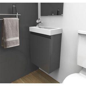 LAVE-MAIN Meuble lave-mains Gris L40,5 x H55 LISA