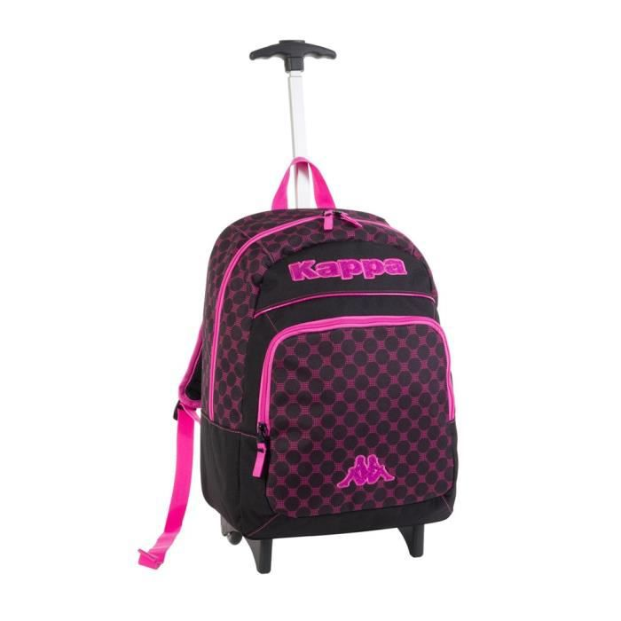 kappa sac dos trolley glamour enfant noir et fuchsia achat vente sac dos kappa sac dos. Black Bedroom Furniture Sets. Home Design Ideas