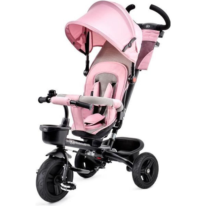 Photo de kinderkraft-tricycle-aveo-rose-3-roues-evolutif-pliable
