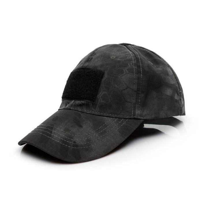 Casquettes De Baseball Tactique Camo Armée Militaire Forces Spéciales Airsoft Casquette Décontractée Noir