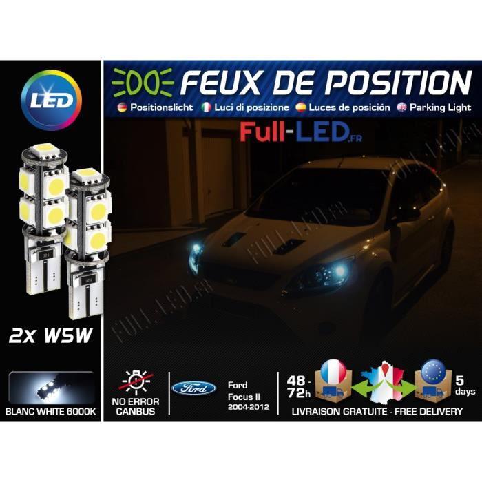 Ampoules Feux de position LED - Ford Focus 2- W5W blanc Xénon