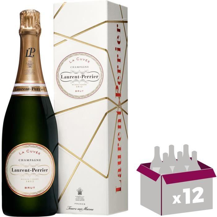 12X Laurent-Perrier Brut 75cl - Etui - Champagne