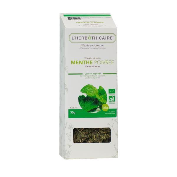 L'Herbôthicaire Tisane Menthe Poivrée Bio 50g