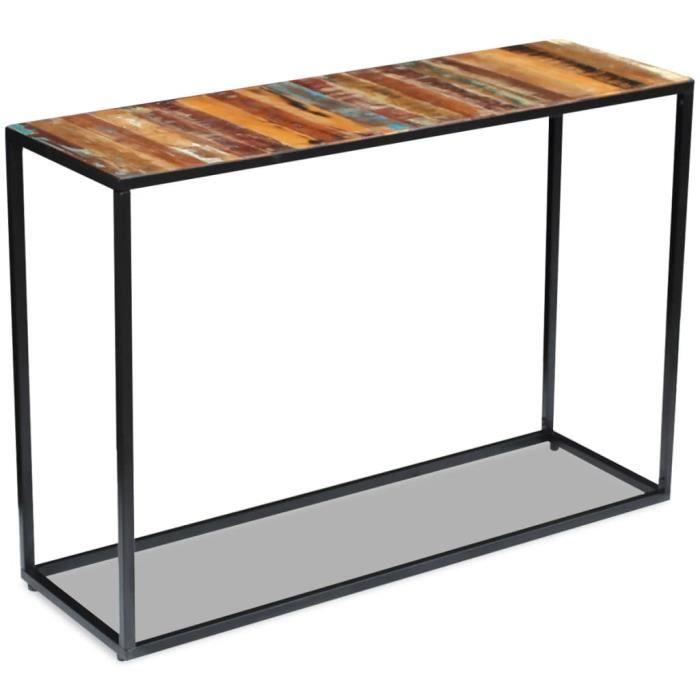 MEUB��Moderne - Table Console Table d'Entrée Vintage décor - Table de drapier Console - style industriel Armoire console Table8981