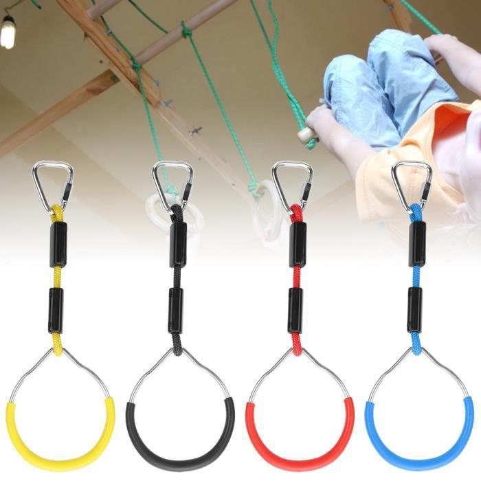Ferme et durable facile à installer 4PCS / Set anneau de gymnastique d'oscillation, anneau de gymnastique coloré d'oscillation,