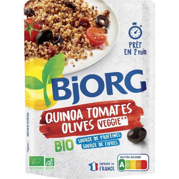 Quinoa tomates olives 250g Bjorg