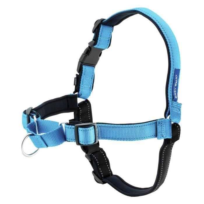 EASY WALK Harnais Deluxe S - Bleu Océan - Pour chien