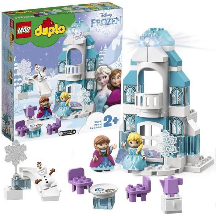 LEGO® 10899 DUPLO Disney Le Château De La Reine Des Neiges Jeu De Construction Avec Mini Poupées Anna Et Elsa, Jouet Enfant 2 Ans