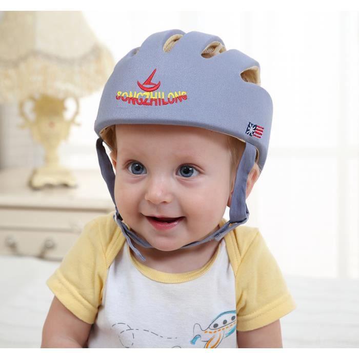 Bébé Sécurité Casque De Protection Anti-choc pour Bébés Enfants Garçons Filles Coton Infantile Protection Chapeaux Enfants -gris