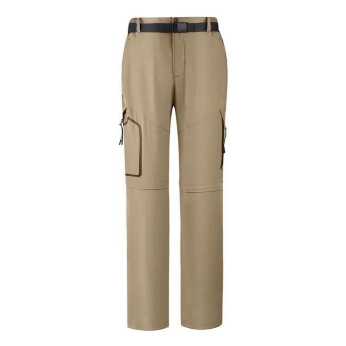 Pantalon de Softshell Femme Mi Saison Imperméable Séparable Randonnée
