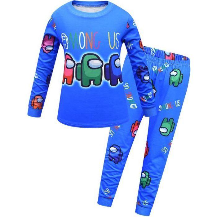 Among us Enfant Ensemble de pyjama - T-shirt à manches longues et Pantalon 1742