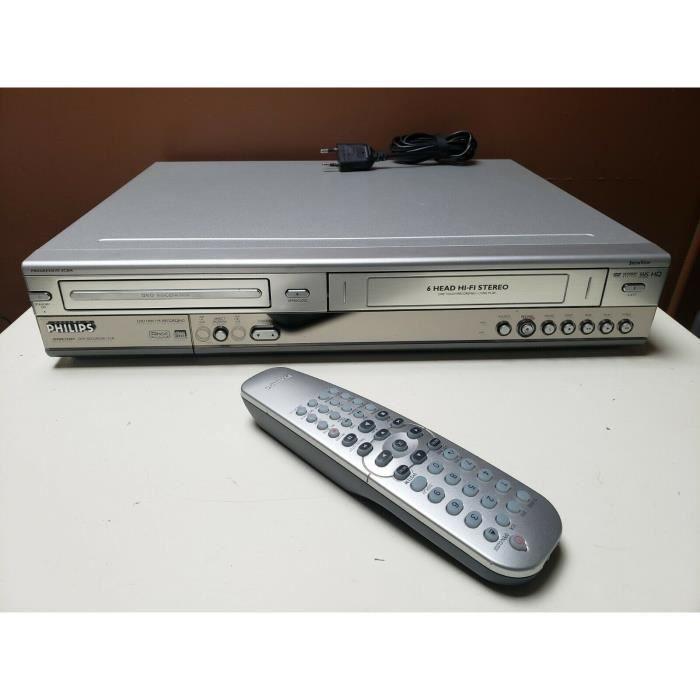 COMBINE MAGNETOSCOPE PHILIPS DVDR3320V GRAVEUR ENREGISTREUR DVD VHS K7 VIDEO .