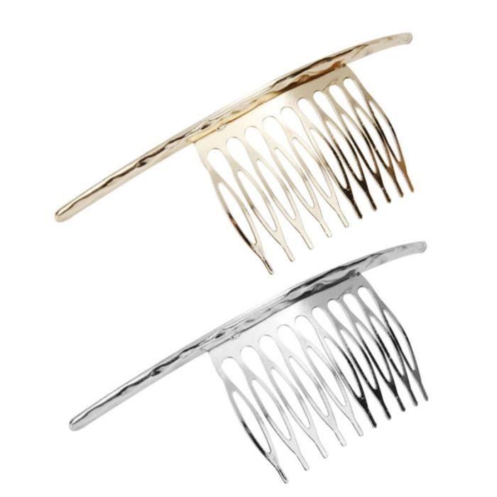 1 pc peignes à exquis décoratif coiffure bijoux de accessoires de peigne inséré pour femmes BROSSE MANUELLE - PEIGNE