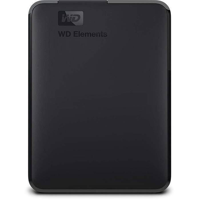 WD - Disque dur Externe - WD Elements™ - 5To - USB 3.0 (WDBU6Y0050BBK-WESN)