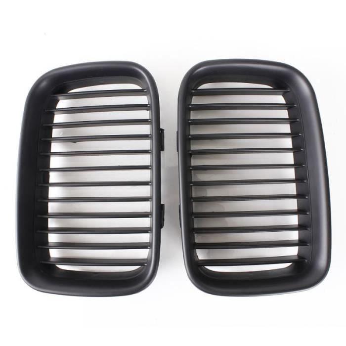 GWH-U 2Pcs Grilles Noire Mat Pour BMW E36 Calandre 92-96 Forte-ABS Construction