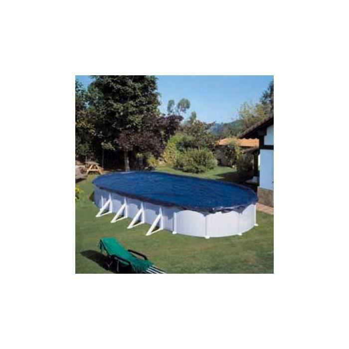 b che d 39 hivernage pour piscine hors sol ovale 500 x 300 cm achat vente geotextile bache. Black Bedroom Furniture Sets. Home Design Ideas