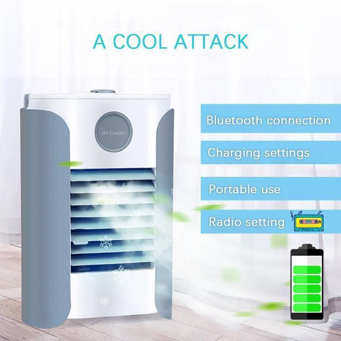 CLIMATISEUR FIXE FM BT charge USB réfrigérateur portable home venti