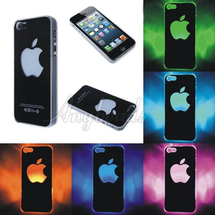coque facade led lumineux apple pomme iphone 5c