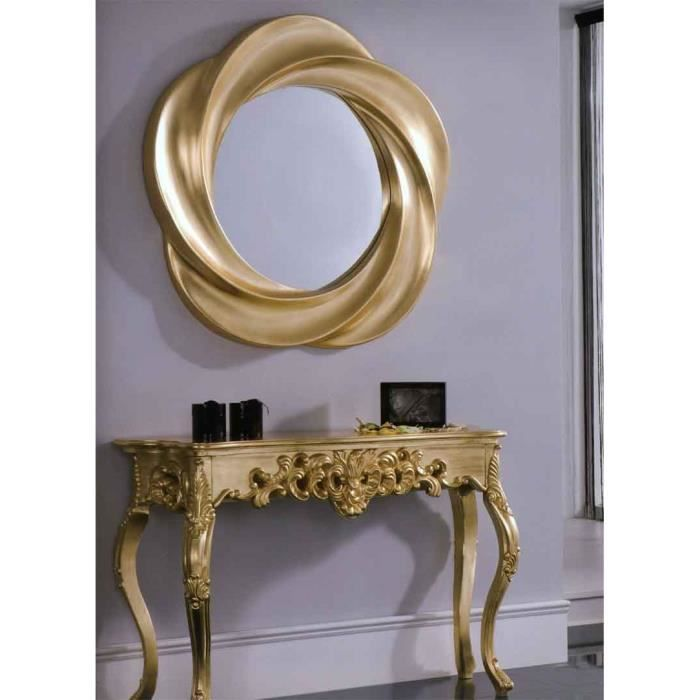 Miroir moderne mod le aristoteles or achat vente for Miroir moderne decoration