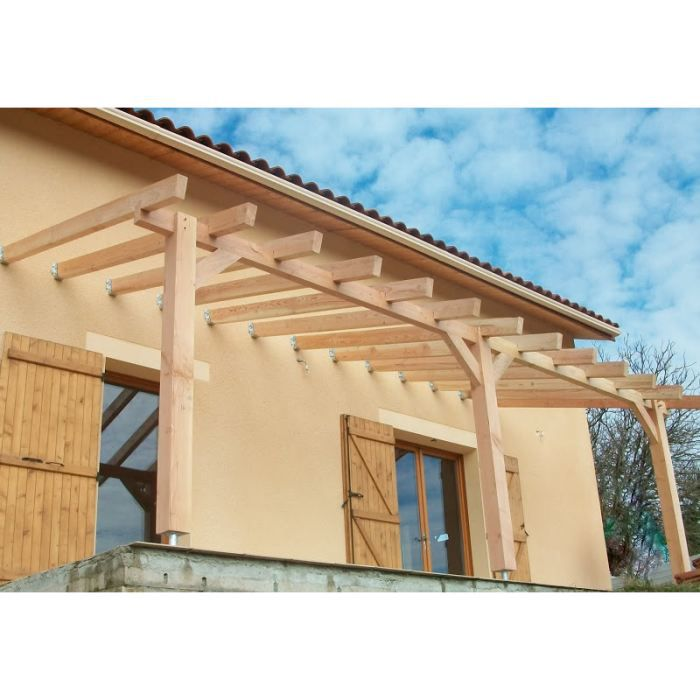 pergola bois murale tuiler 6 00 x 3 30 m tres achat vente pergola pergola bois murale. Black Bedroom Furniture Sets. Home Design Ideas
