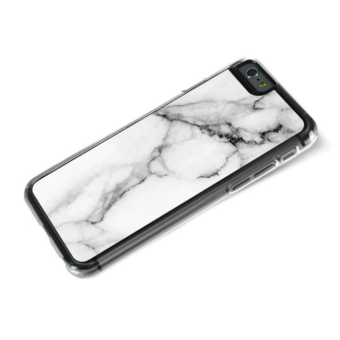 iphone 6 6s coque rigide effet marbre blanc