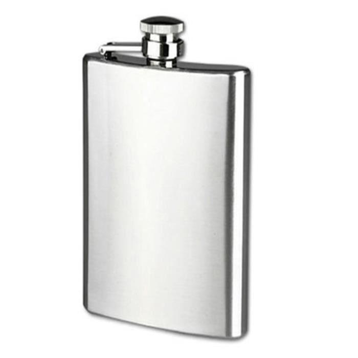 Flacon de mode en acier inoxydable Bangle avec entonnoir meilleurs cadeaux de vacances pour les femmes et les hommes! nouveaut/é 3.5 oz Bracelet Flask
