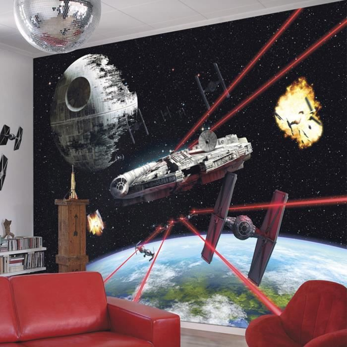 papier peint faucon millenium star wars achat vente papier peint cdiscount. Black Bedroom Furniture Sets. Home Design Ideas