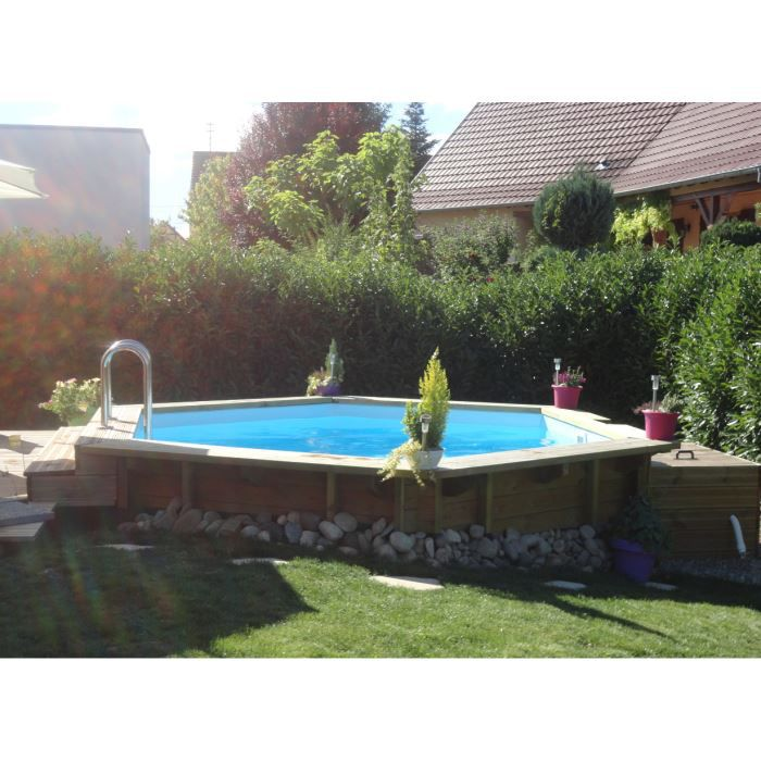 Piscine bois enterrable ronde elora l420xh125 cm achat for Piscine enterrable bois