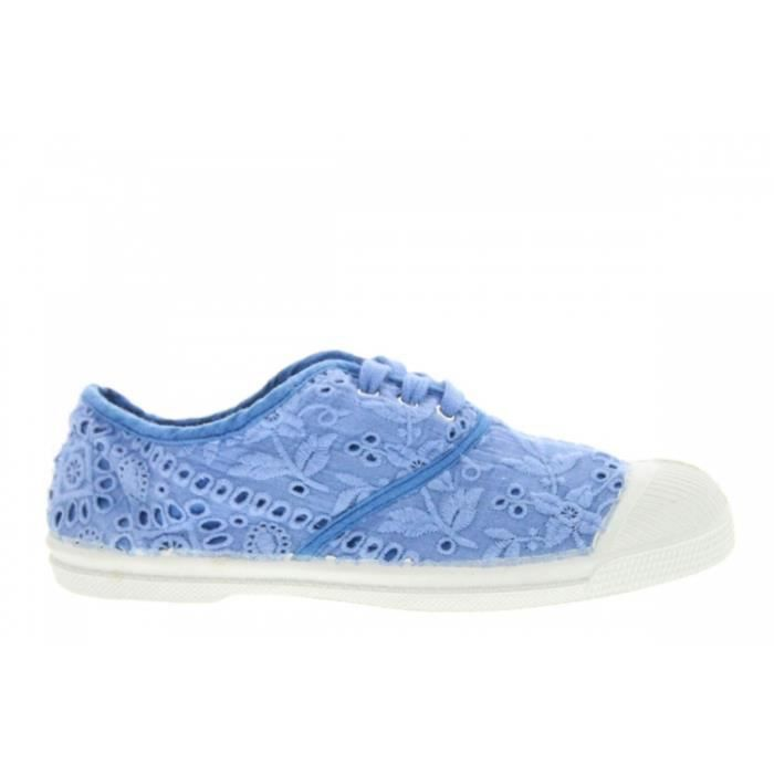 Baskets mode - Bensimon Lacets (E) Broderie Anglaise Bleu