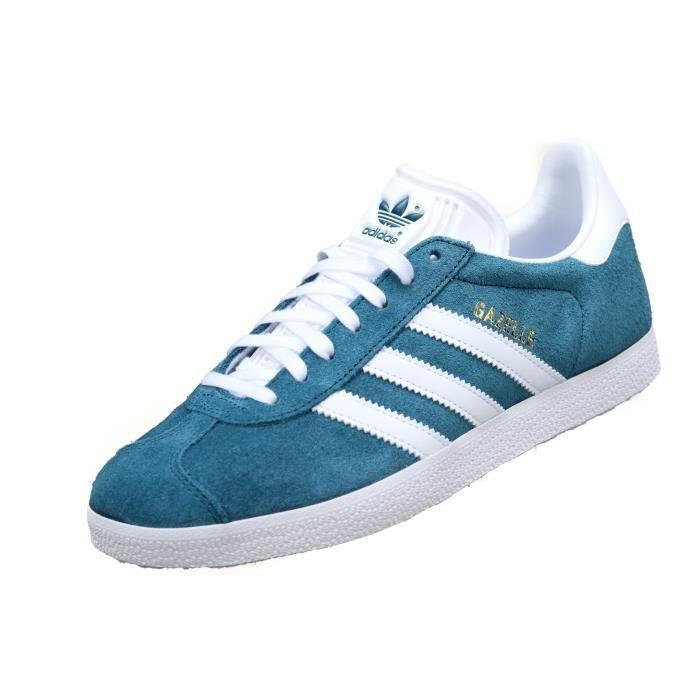 Basket Adidas Gazelle B41654 Turquoise Bleu - Achat / Vente ...