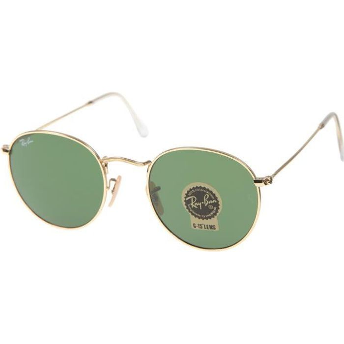 ray ban lunettes de soleil round metal rb3447 dor mixte dor achat vente lunettes de soleil. Black Bedroom Furniture Sets. Home Design Ideas